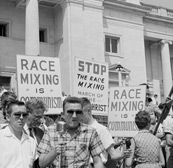 Protest against Little Rock Nine