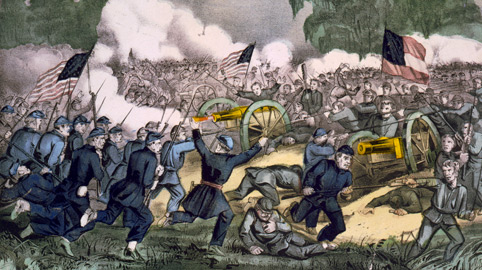 The Battle of Gettysburg, PA. July 3, 1863