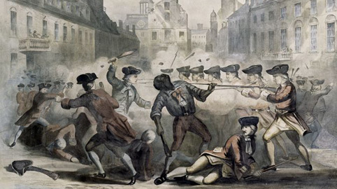 Crispus Attucks, a runaway slave, led the crowd of men and boys who challenged British authorities in the first battle of the American Revolution