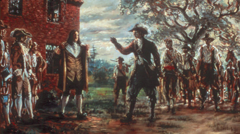 a history of the uprisings in virginia caused by bacon Bacon's rebellion was an armed rebellion in 1676 by virginia settlers led by nathaniel bacon against the rule of governor william berkeleythe colony's dismissive policy as it related to the political challenges of its western frontier, along with other challenges including leaving bacon out of his inner circle, refusing to allow bacon to be a part of his fur trade with the indians, and doeg.